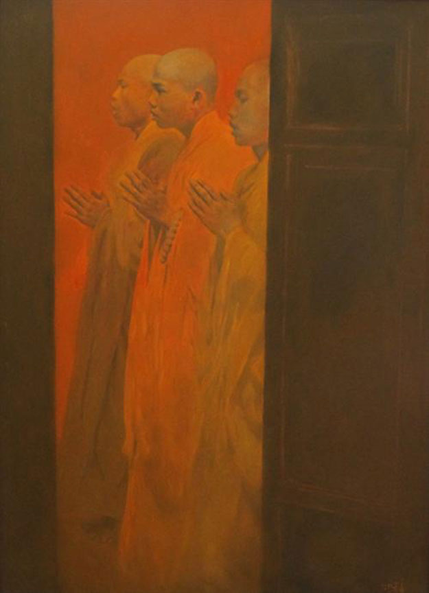 Praying 03-Original Vietnamese Art
