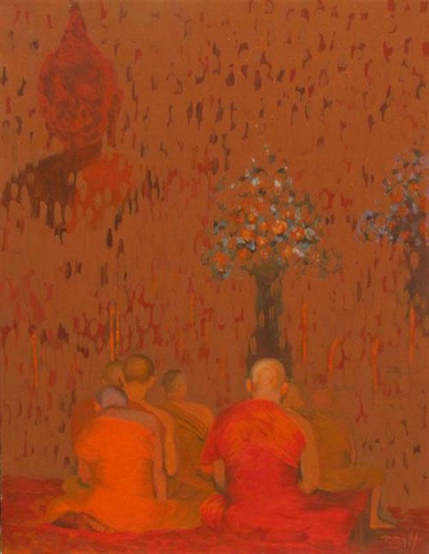 Praying -Original Vietnamese Art