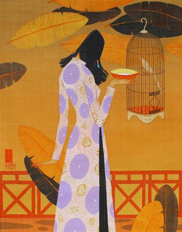 Quiet noon-Vietnamese Painting