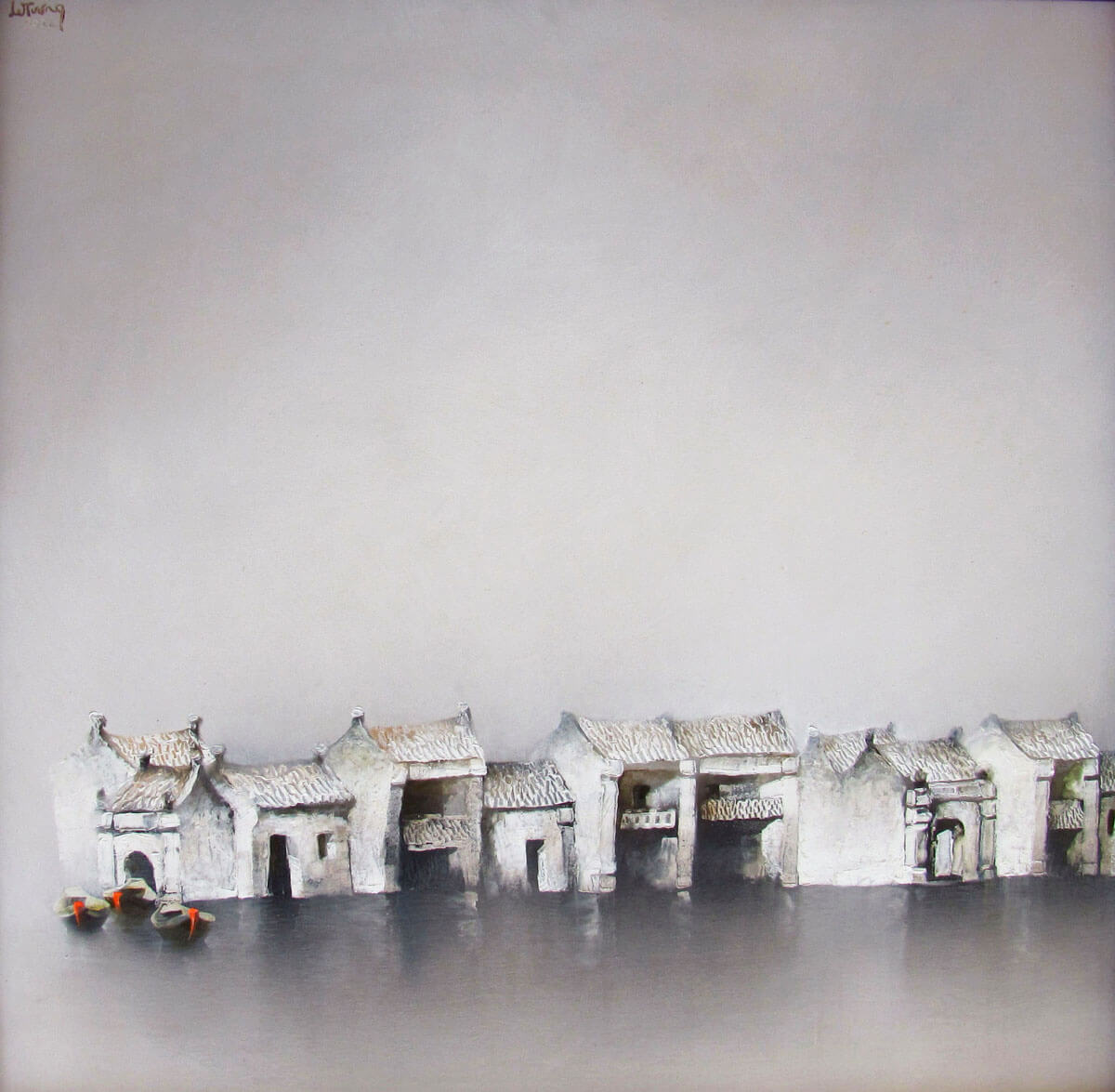 Quiet town-Original Vietnamese Art
