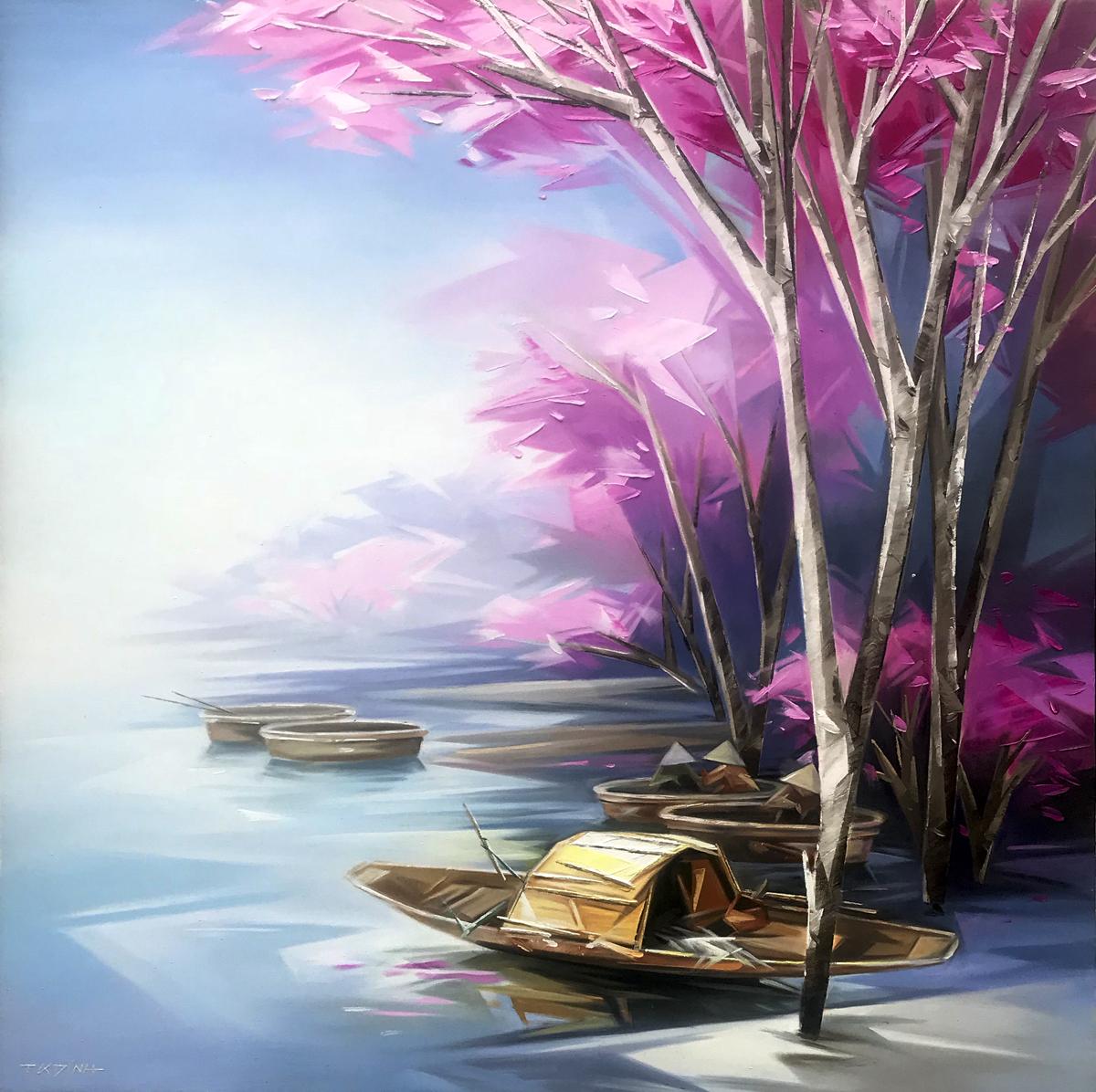 Resting boats 01-TQD-100x100