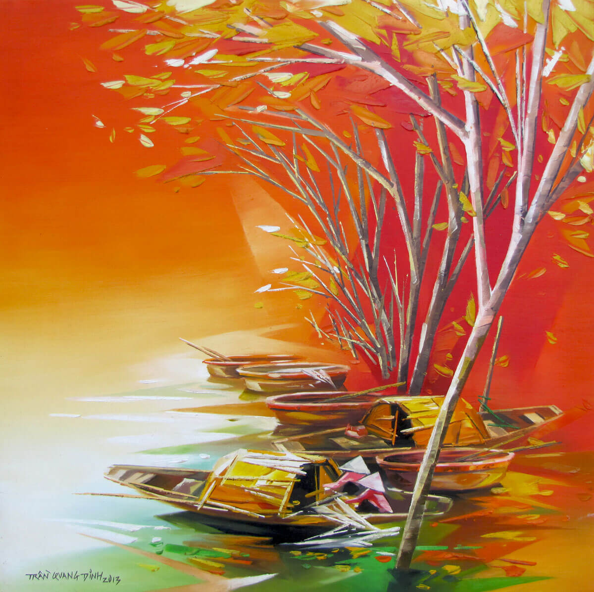 Resting boats 02-Original Asian Art