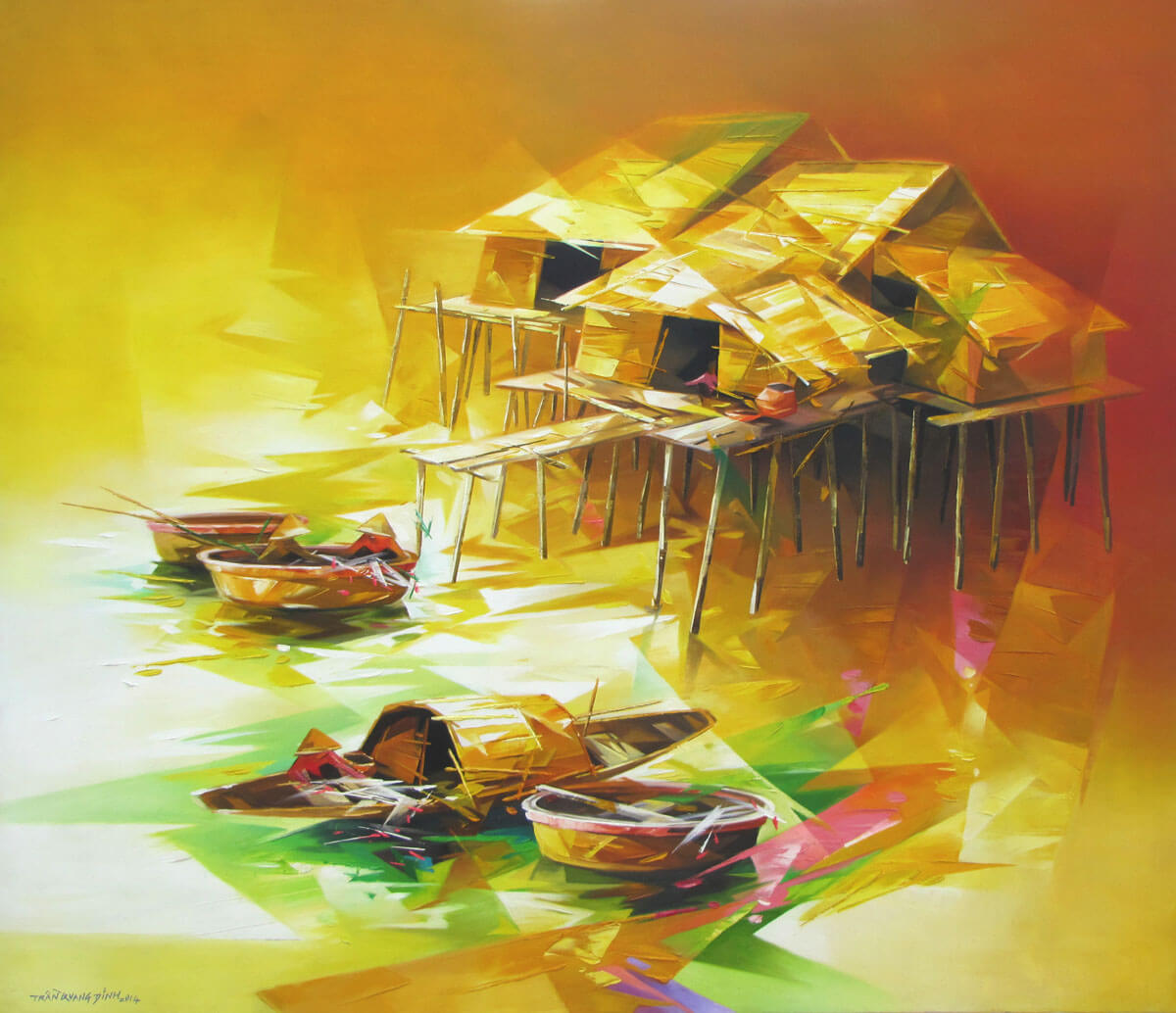 Resting boats 05 -Original Asian Art