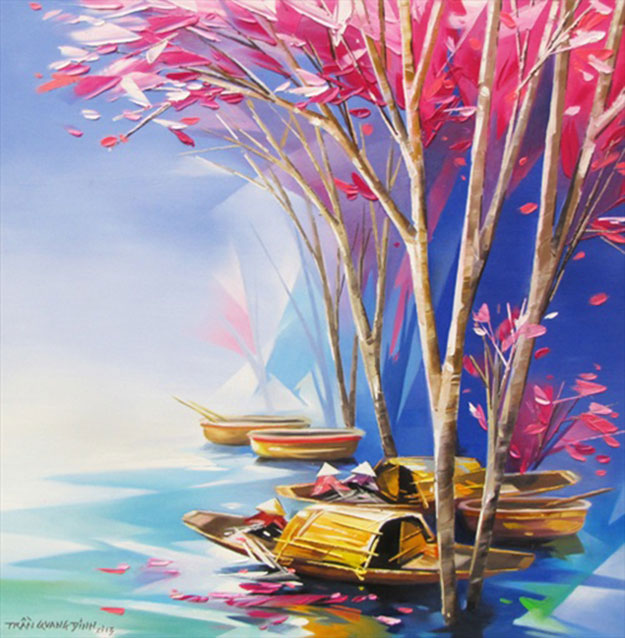 Resting boats 1-Original Asian Art