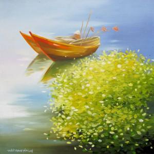 Resting boats -Original Asian Art