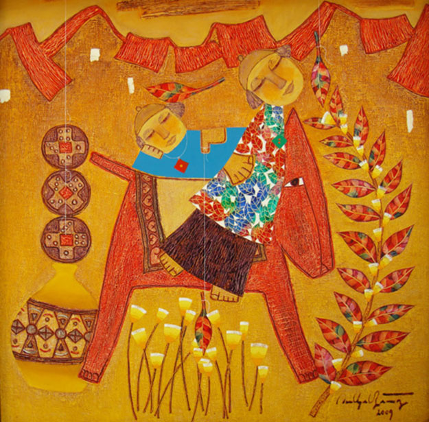 Rocking horse of the artist-Vietnamese Painting