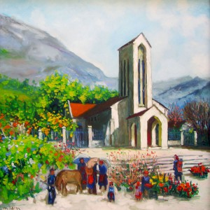 Sapa in the early morning-Original Vietnamese Art