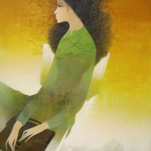 Schoolgirl -Original Asian Art
