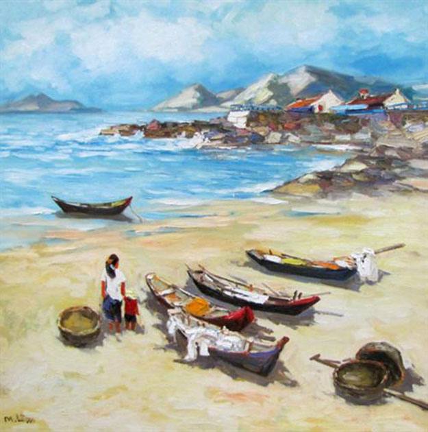 Sea view 01-Original Vietnamese Art