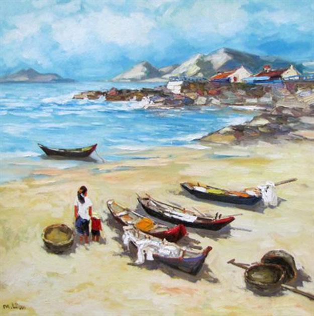 Sea view 01-Original Vietnamese Art