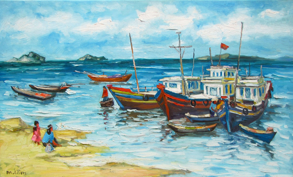 Sea view 02-Original Vietnamese Art