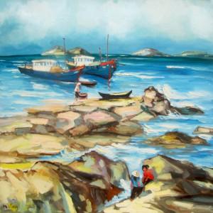 Sea view 03-Original Vietnamese Art