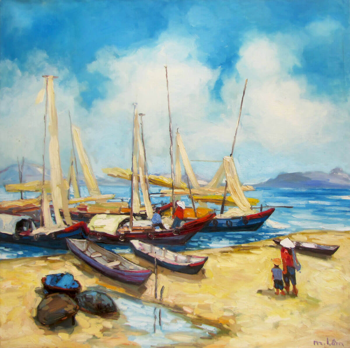 Sea view 04-Original Vietnamese Art
