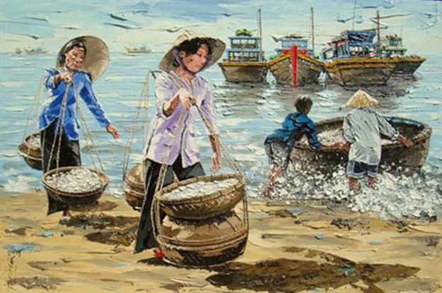 Sea view -Original Vietnamese Art Gallery