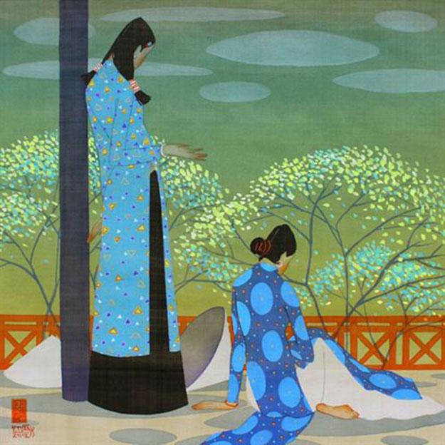 Spring-Vietnamese Painting