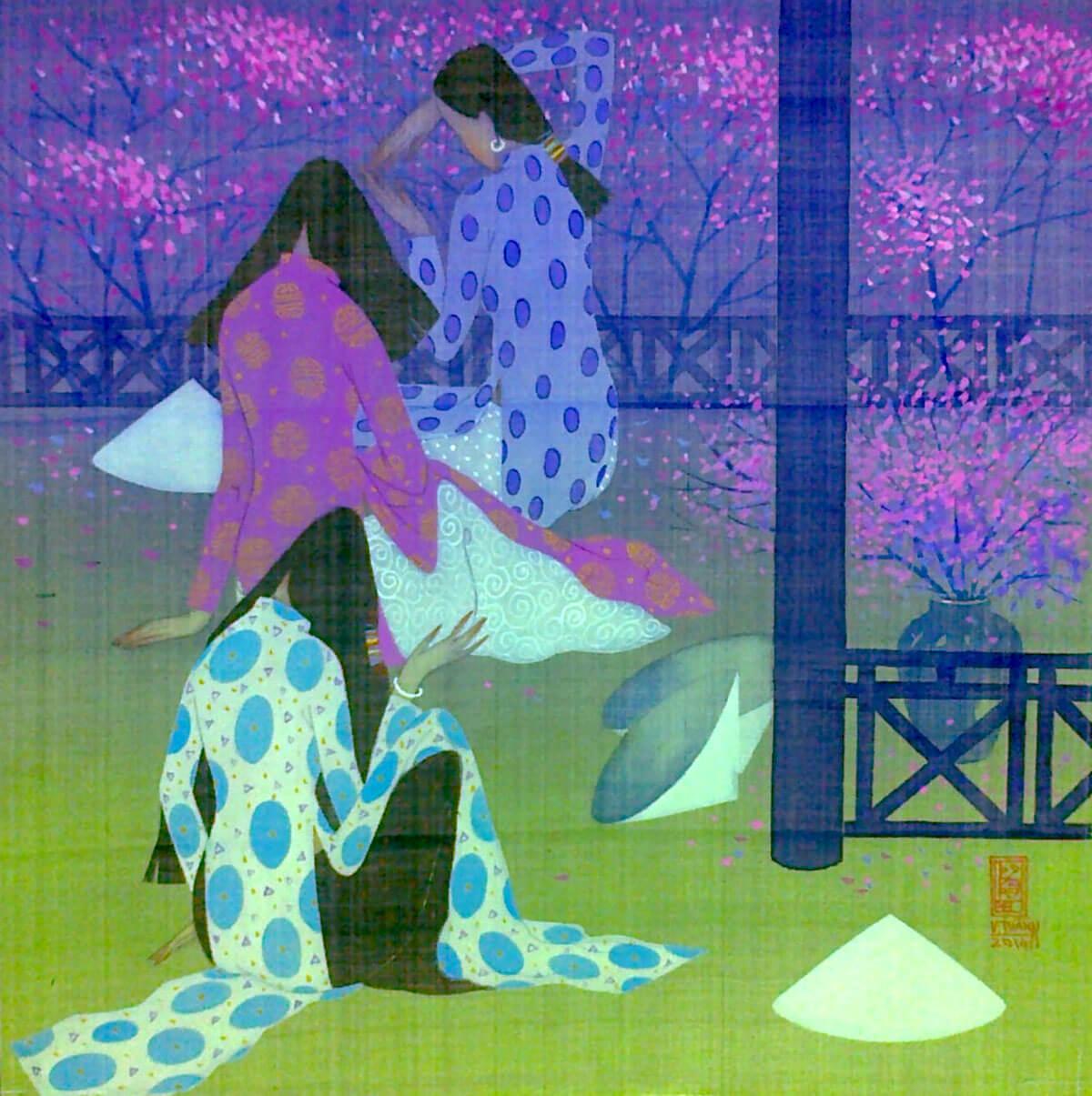 Spring garden-Vietnamese Painting