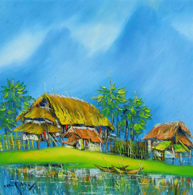 Still-houses-Original Asian Art