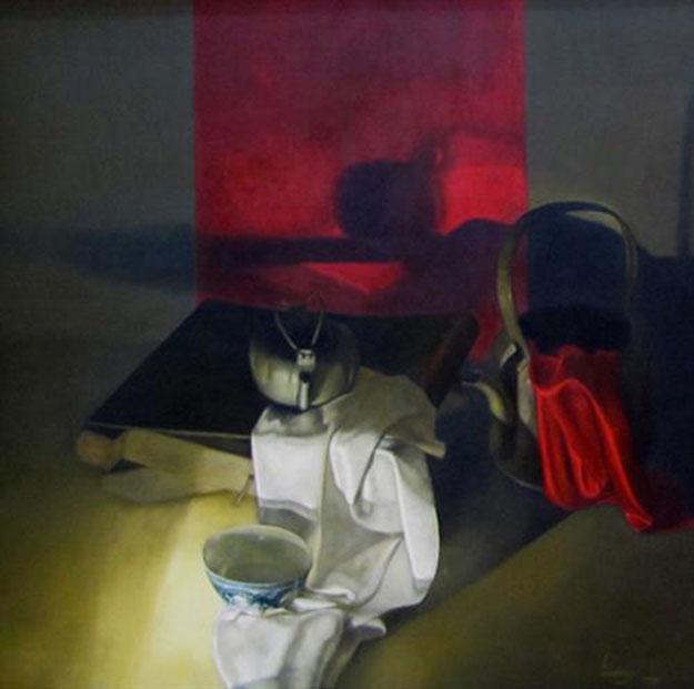Still-life with white cloth-Original Vietnamese Art Gallery