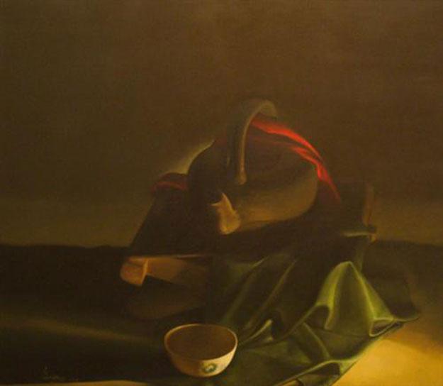 Still-life with green cloth-Original Vietnamese Art Gallery