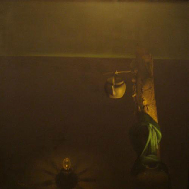 Still-life with lamp and green cloth-Original Vietnamese Art Gallery
