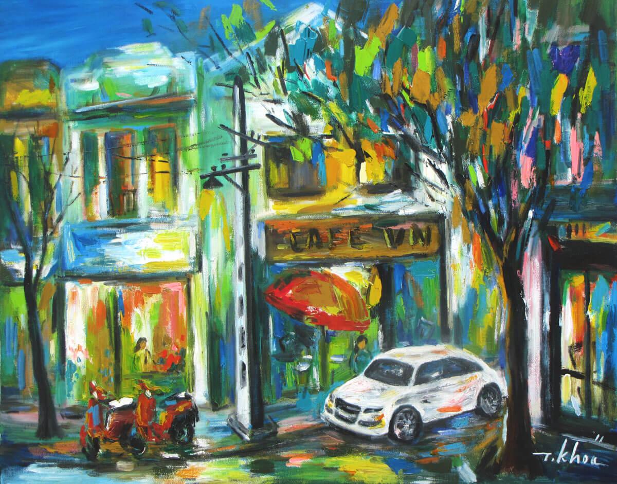 Streetscene in Hanoi-Original Asian Art