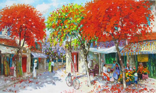 Summer noon-01-Original Vietnamese Art