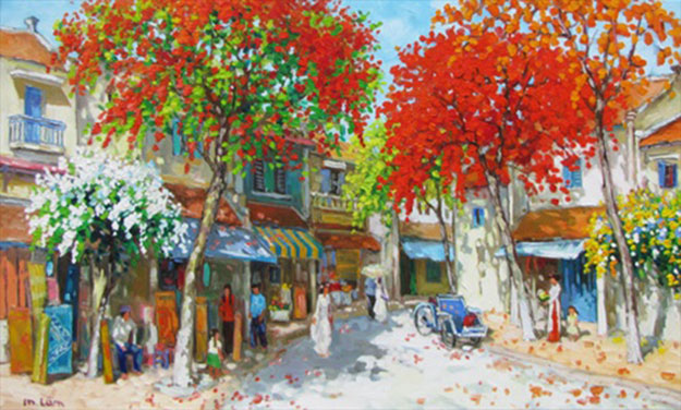 Summer noon-02.-Original Vietnamese Art