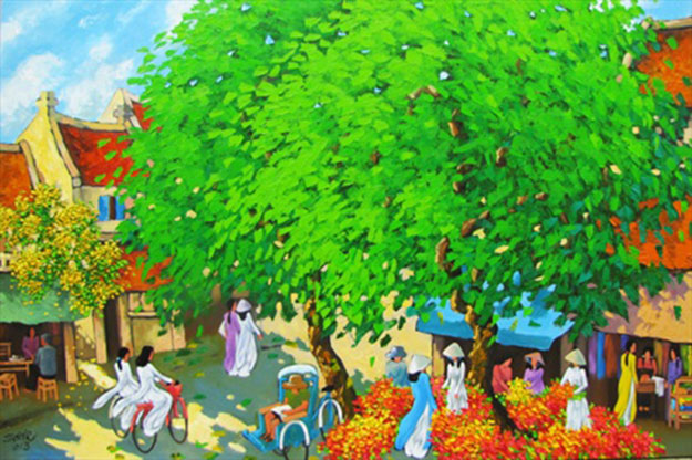 Summer noon 3-Original Vietnamese Art