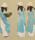 The Blue Dresses-Original Vietnamese Art