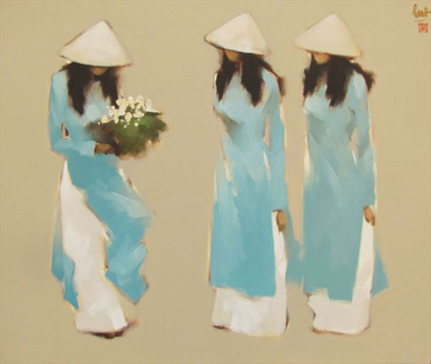 The Blue Dresses-Original Vietnamese Art
