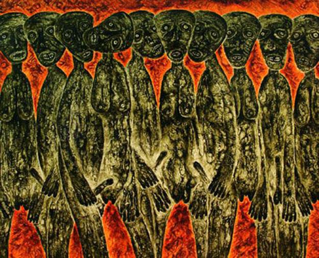 The Chorus on Sacred land 02-Original Vietnamese Art Gallery