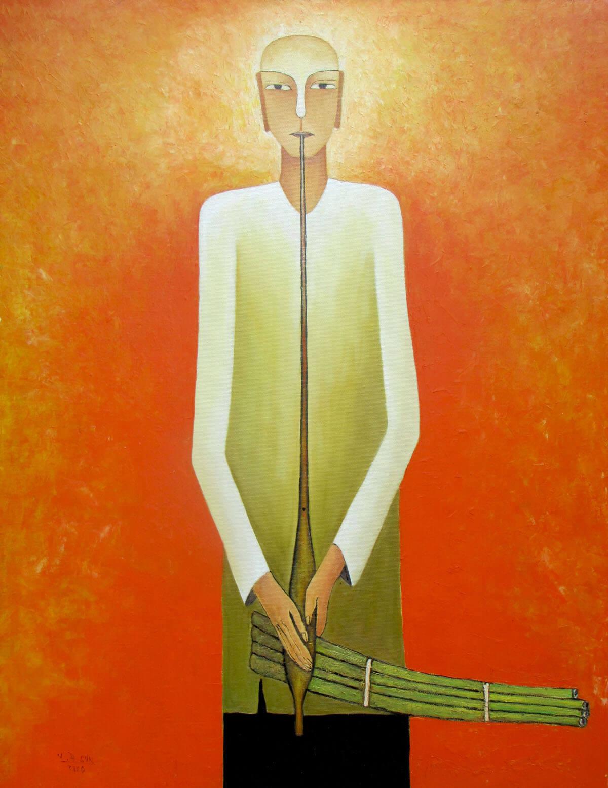 The Musician-Original Asian Art