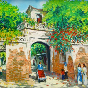 The Old Gate-Original Vietnamese Art