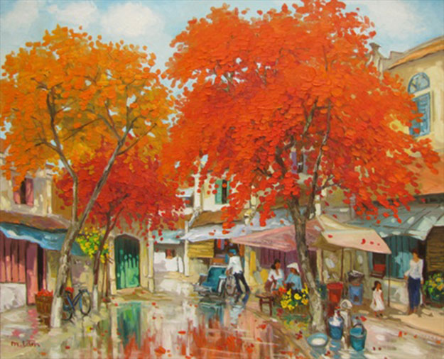 The Summer in Hanoi 01-Original Vietnamese Art