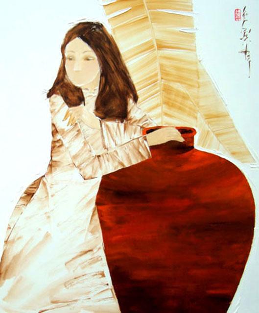 Thinking -Original Asian Art