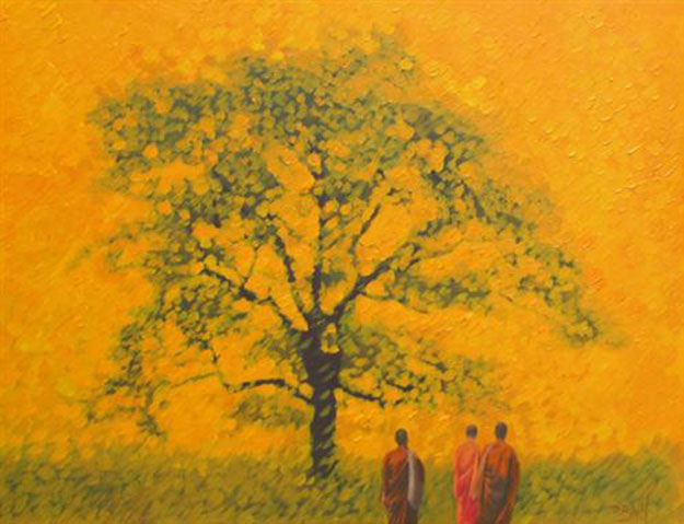 Under banyan tree-Original Vietnamese Art