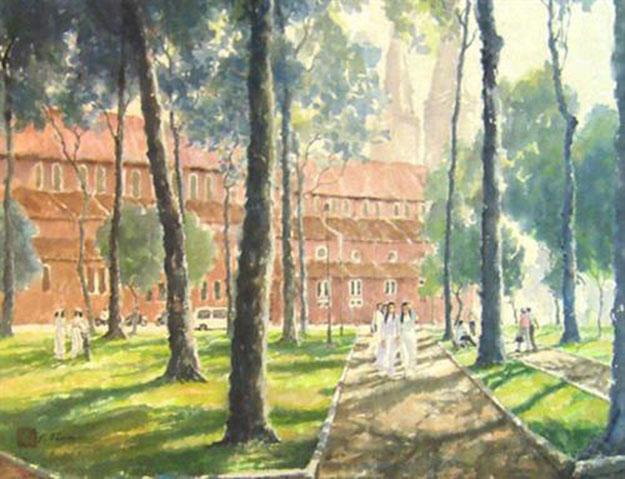 View of the church 1-Original Asian Art