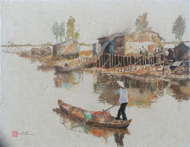 Village scene 02-Original Asian Art