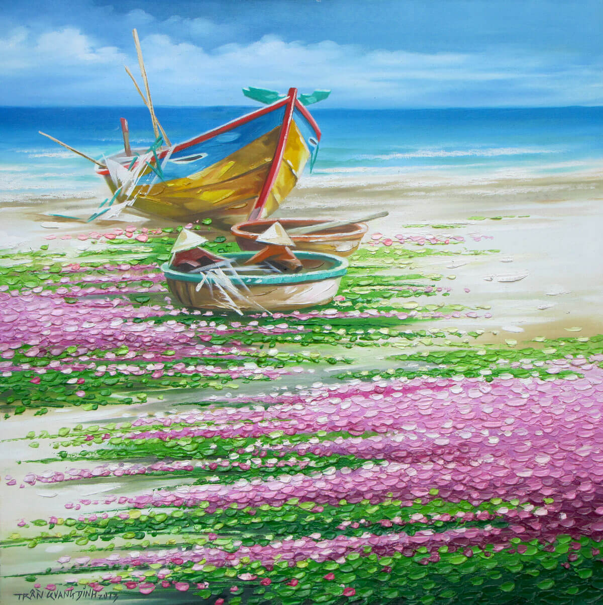 Water-morning glory 4-Original Asian Art