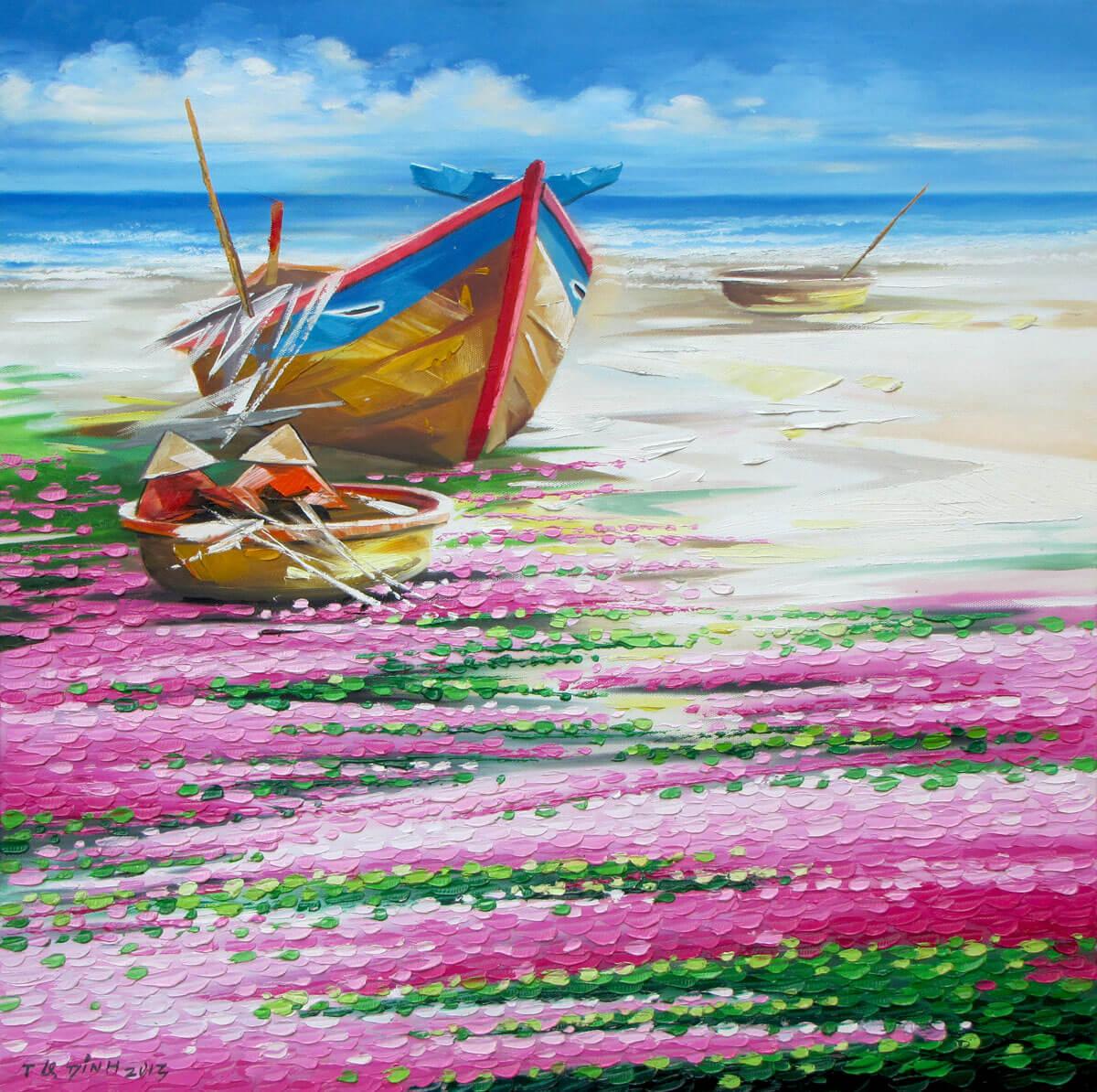 Water-morning glory 5-Original Asian Art