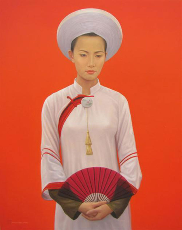 Young Lady-01-Vietnamese Painting