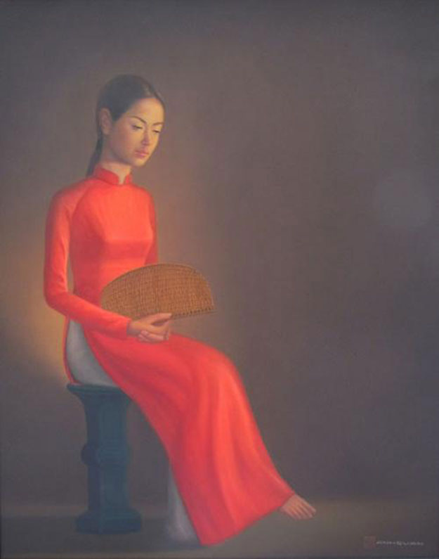 Young Lady-02 -Vietnamese Painting