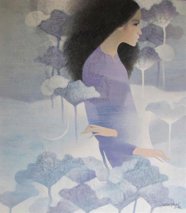 Young Lady 03-Original Asian Art