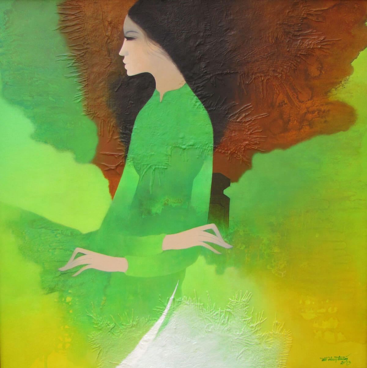 Young Lady-Original Asian Art