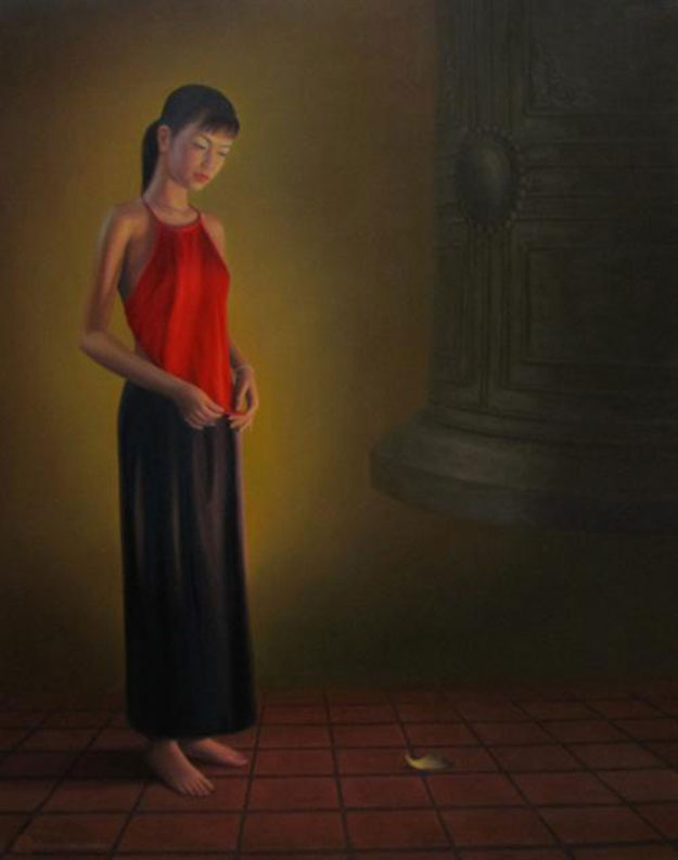 Young lady-Vietnamese Painting