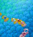 Blue flower field-03 -Original Vietnamese Art