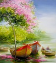 Resting boats 03 -Original Asian Art