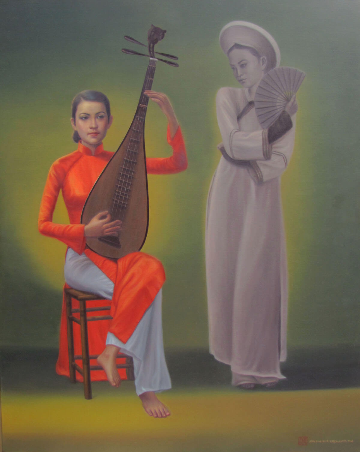 A performance-Vietnamese Painting