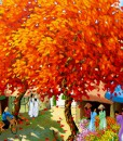 Blossom trees in summer 02 - DNS-Original Vietnamese Art