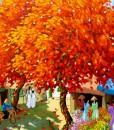 Blossom trees in summer 02 - DNS-Original Vietnamese Art